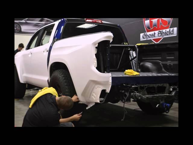 Modified Toyota Tundra Full Car Vinyl Color Change Wrap