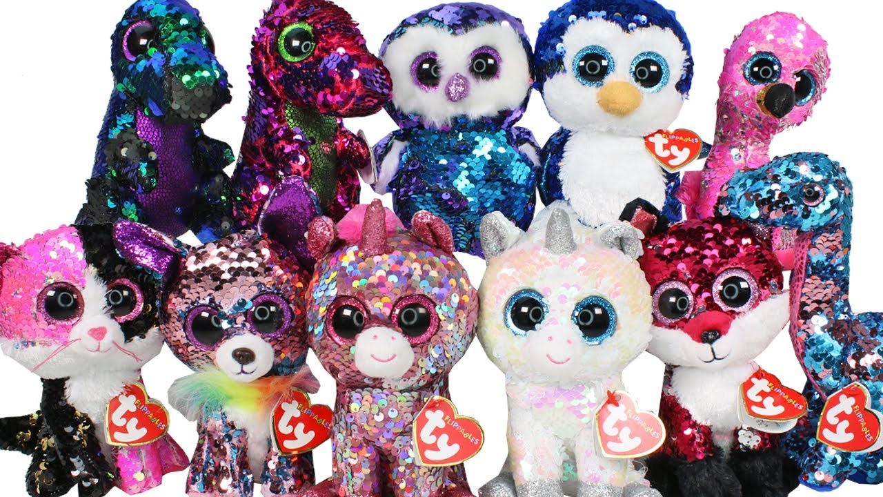 TY Flippables Sequin Beanie Boos Haul Unboxing Toy Review