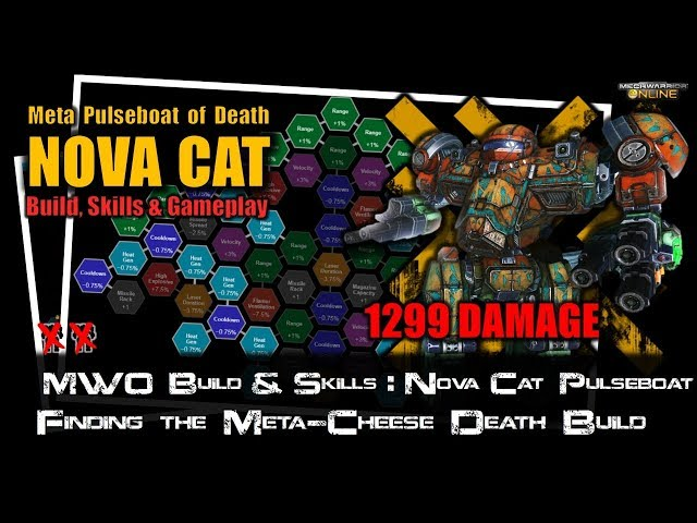 [BRxV] MWO Build & Skills : Nova Cat Meta Pulseboat