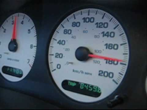 CrazyCarClub - 2002 Chrysler Intrepid MAX SPEED TEST 0 to 180 KPH (0 to 110 MPH)