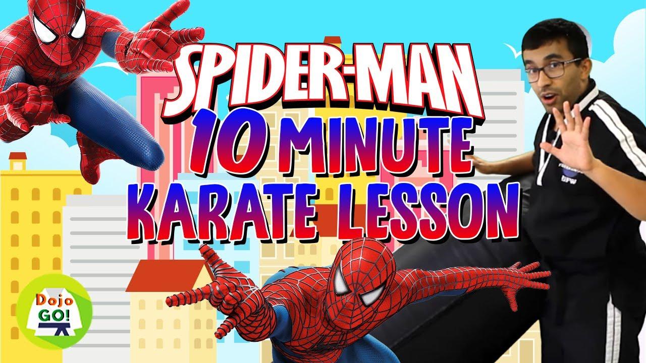 10 Minute Kids Kicking Bag Workout | Spiderman V2!