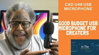 Great budget microphone for new creators. The CAD u49 USB Microphone.