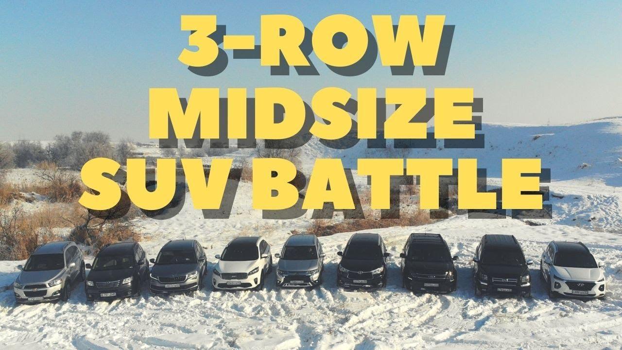 Three-Row SUV Battle: Chevrolet, Subaru, Skoda, Kia, Mitsubishi, Toyota, Ford, Honda & Hyundai