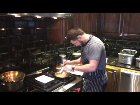 Cooking Scallops with Chef Ryan.Kevin Durant's private chef.