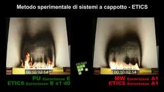 ANPE fire tests: Insulation of facades with external insulated cladding (ETICS)