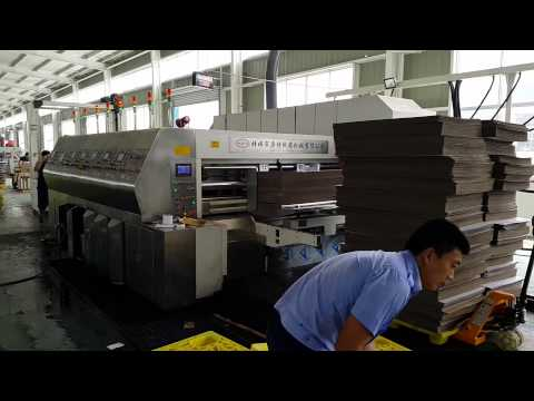 ZYKM III HIGH SPEED FULL AUTOMATIC PRINTING SLOTTING WITH DIE CUTTING MACHINE(900X2000MM)