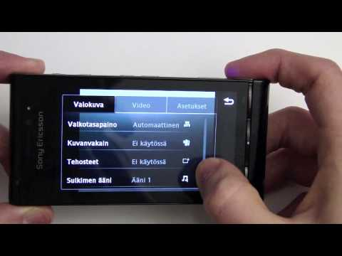 Sony Ericsson Satio - kamera