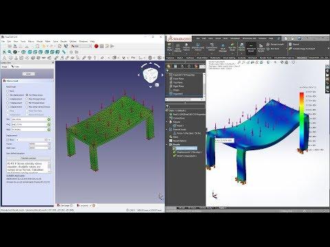 FreeCAD FEM VS SolidWorks FEA Simulation - How Do They Compare?|JOKO ENGINEERING|