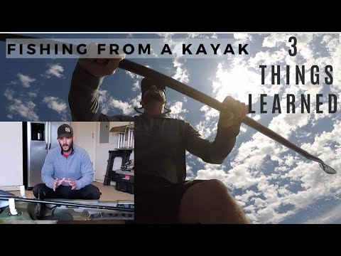 3 THINGS LEARNED From FISHING Out Of A KAYAK For The 1ST TIME/ Pelican Castaway 100