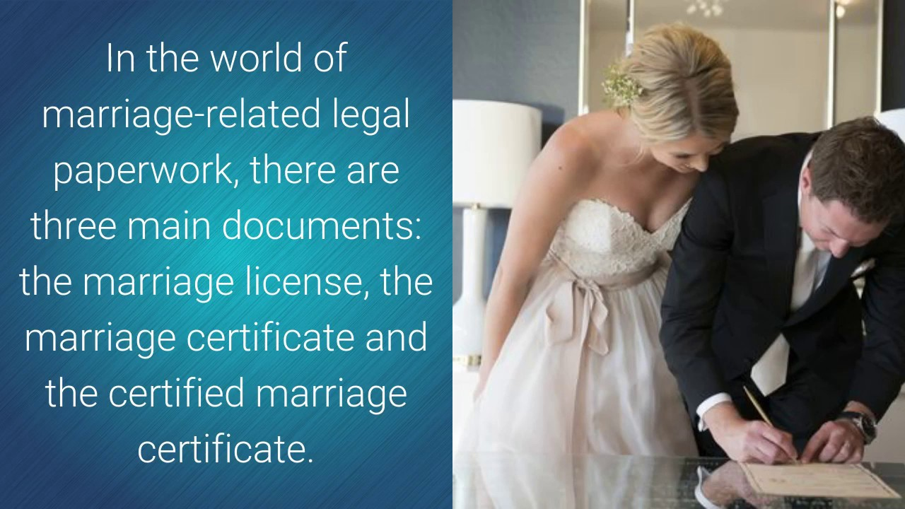 The Difference Between A Marriage License A Marriage Certificate