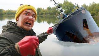 Мы подняли со дна гигантскую жуткую находку где затонул корабль во время магнитной рыбалки