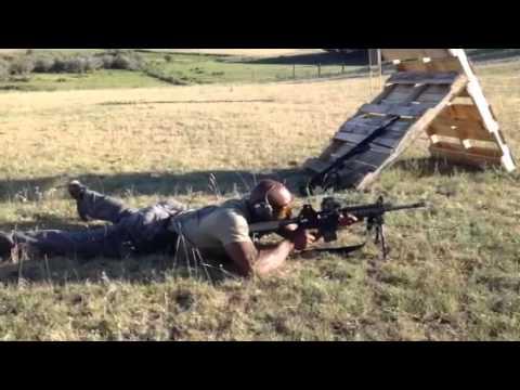 Navy SEAL Shoots Assault Rifle