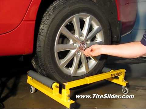 Installing a tire using a TireSlider.
