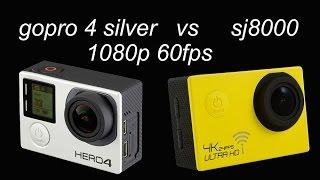 gopro 4 vs sj8000 test   1080 60fps - comparison