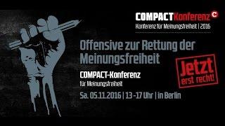 COMPACT-Konferenz 2016: Offensive für Meinungsfreiheit