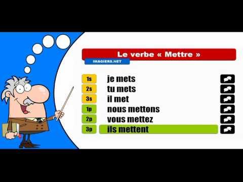 La Conjugaison Du Verbe Mettre Indicatif Present Youtube