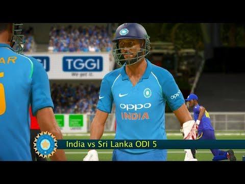 India vs Sri Lanka - 5th ODI Match - Don Bradman Cricket 17