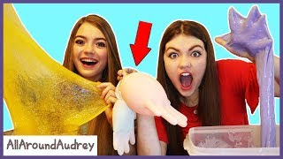 Mystery SLIME Glove Challenge! / AllAroundAudrey