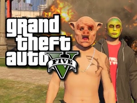 GTA 5 Funny Moments! - Crew Challenge! (GTA 5 Fruity Fun!)