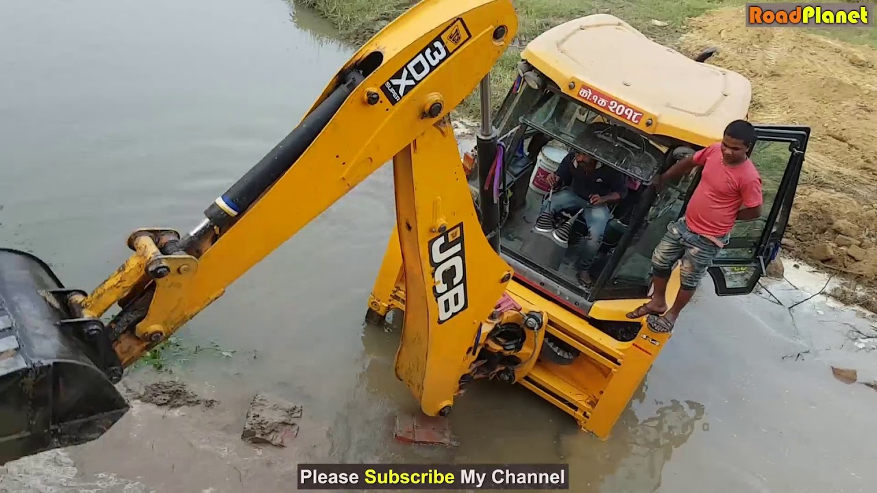 Jcb Dozer Breaking Bridge Wall Jcb Working For New Bridge Construction Dozer Video 5