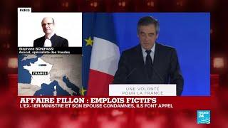 Affaire Des Emplois Fictifs : François Fillon Et Son épouse Condamnés, Ils Font Appel