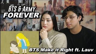 Gambar cover Reacting to BTS (방탄소년단) 'Make It Right (feat. Lauv)' Official MV
