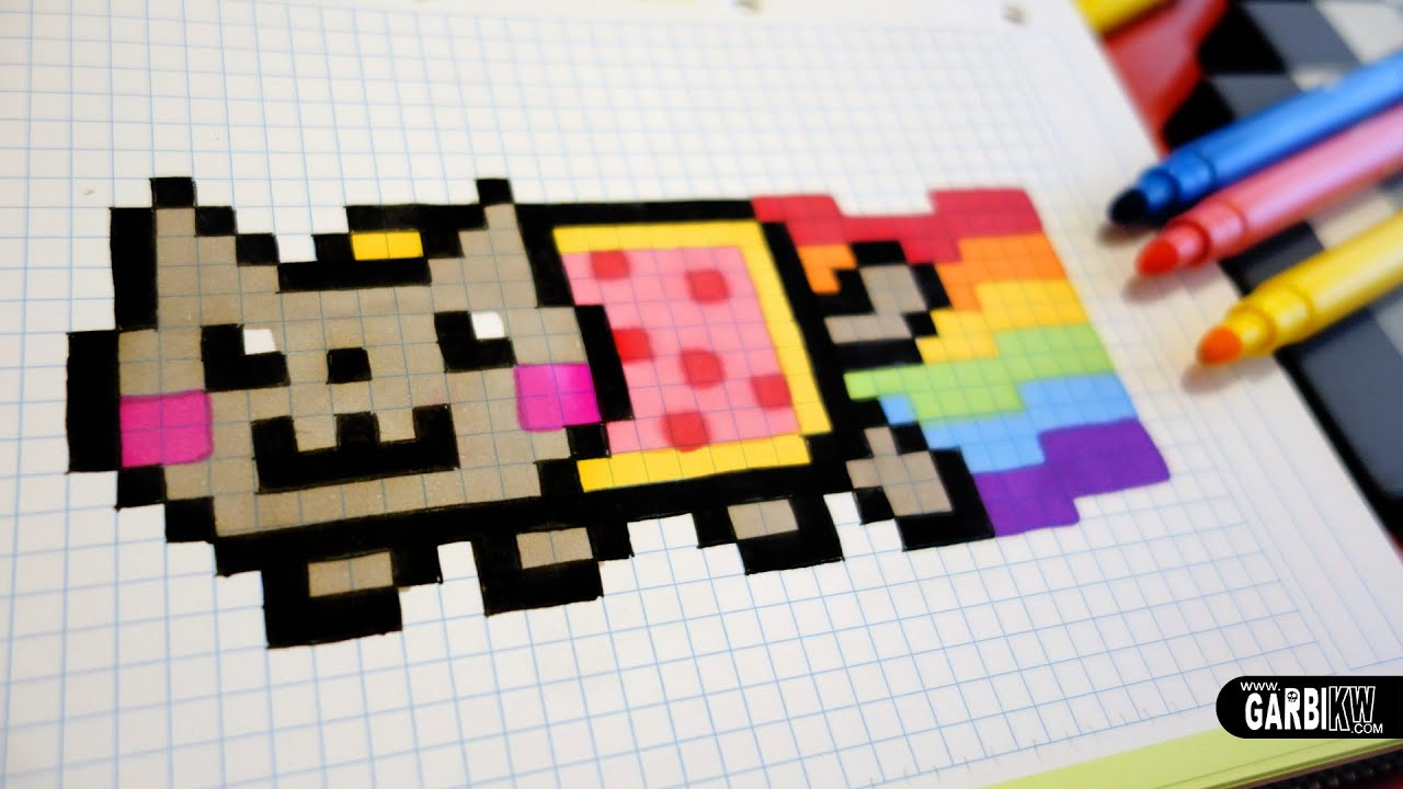 Handmade Pixel Art How To Draw A Nyan Cat Pixelart