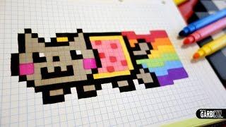 Handmade Pixel Art - How To Draw a Nyan Cat #pixelart