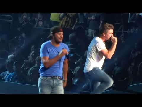 Luke Bryan  and Morgan Wallen in Kansas City