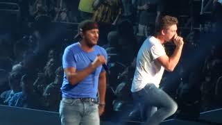 "Luke Bryan  and Morgan Wallen in Kansas City ""Up Down"" 8/26/18"