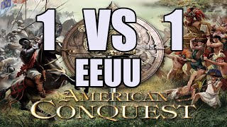 AMERICAN CONQUEST Gameplay Español | 1 vs CPU | VERY HARD