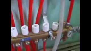 видео Трубы и коллектора теплого пола в  Украине