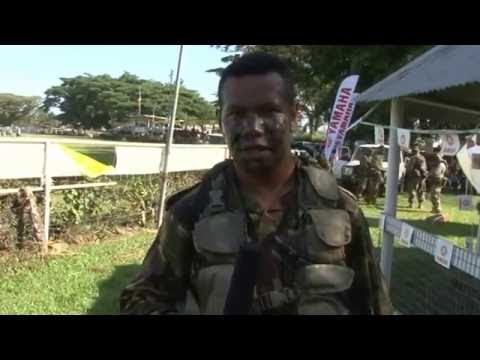 PNG Defense Force Mock Battle at 2013 Morobe Show