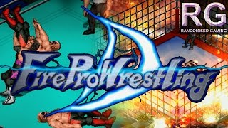 Fire Pro Wrestling D - Sega Dreamcast - Intro, tag & electrified cage match gameplay [1080p 60fps]