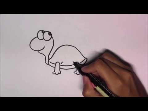 วาดรูปการ์ตูนน่ารัก ระบายสี และเรียนรู้ภาษาอังกฤษ Turtle เต่า