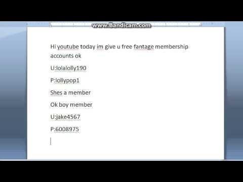 free fantage membership accounts[ one boy[ one girl]