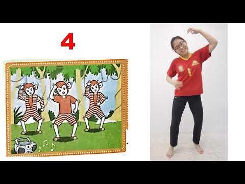 一年级体育:动物大舞会《猴子宝宝》舞步