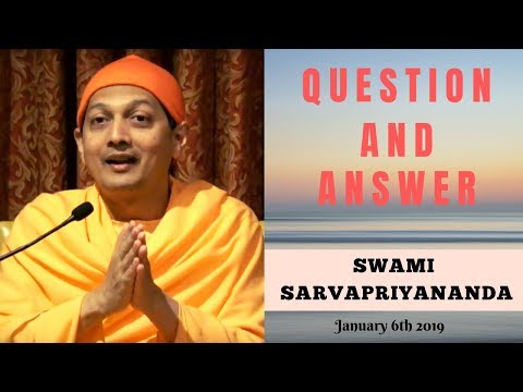 Ask Swami with Swami Sarvapriyananda | January 6th, 2019