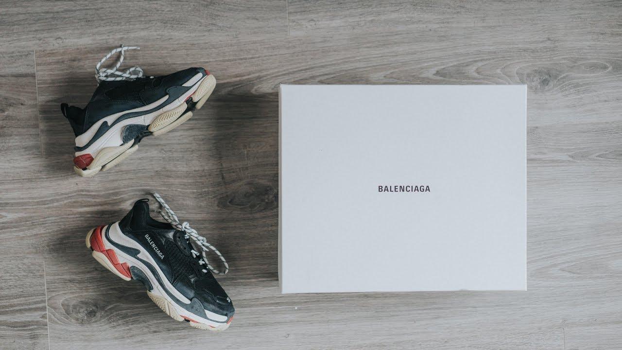 Đập Hộp + Đánh giá + On Feet đôi Balenciaga Triple S phiên bản 2018