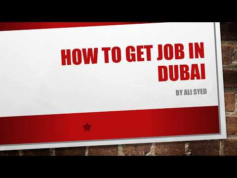 How To Get Job In Dubai