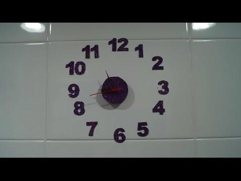 reloj de pared con goma eva