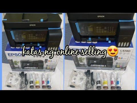 unboxing epson L5190 printer(katas ng online selling) #epson #epsonL5190  #philippines #epsonprinter