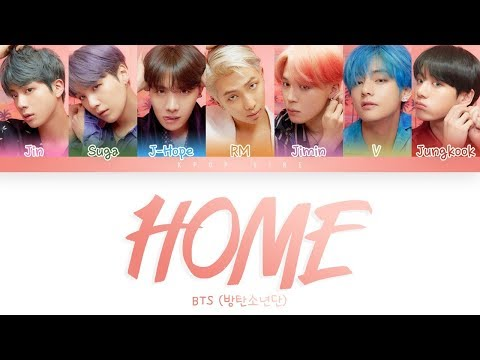 BTS (방탄소년단)  -  'HOME' LYRICS (Color Coded Lyrics Eng/Rom/Han)