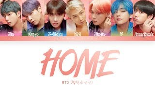 Baixar BTS (방탄소년단)  -  'HOME' LYRICS (Color Coded Lyrics Eng/Rom/Han)