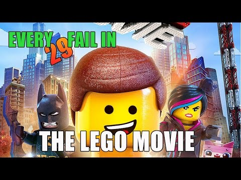 Every Fail In The Lego Movie | Everything Wrong With The Lego Movie, Mistakes and Goofs