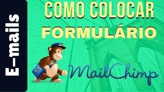 🔵 Como Colocar um Formulário de Captura do MailChimp no meu site | Plugin MailChimp for WP