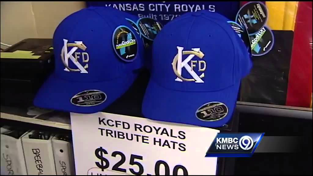 6af0be0fba0 KC lines up to get special KCFD commemorative hats - YouTube
