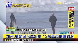 最新》加州、奧勒岡沿岸出現 12米高恐怖瘋狗浪