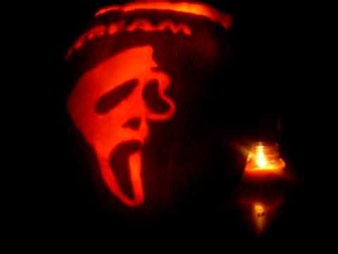 Scream pumpkin made by kazo youtube for Scream pumpkin template