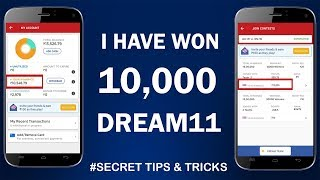 I won Rs.10,000 from Dream11 App !! Bank Withdrawal Shown !! Secret Tips & Tricks Shared !!